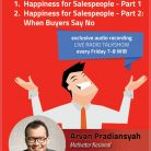 CD Audiobook Happiness for Salespeople oleh Arvan Pradiansyah - Motivator Bisnis Indonesia