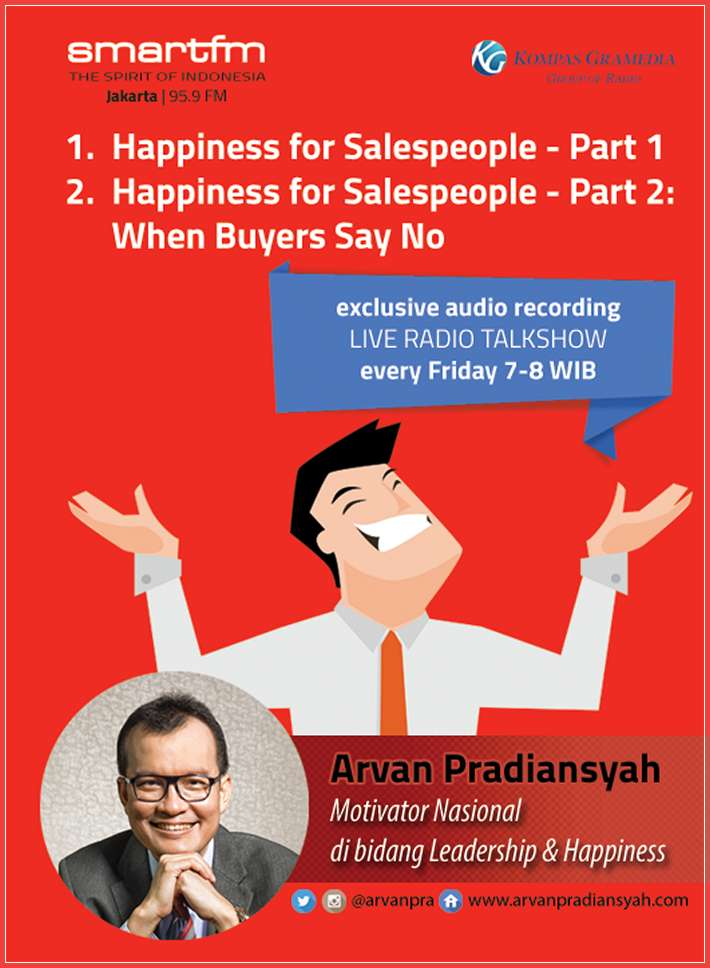 CD Audiobook Happiness for Salespeople oleh Arvan Pradiansyah – Motivator Bisnis Indonesia