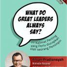 CD Audiobook What Do Great Leaders Always Say oleh Arvan Pradiansyah - Motivator Kepemimpinan Indonesia