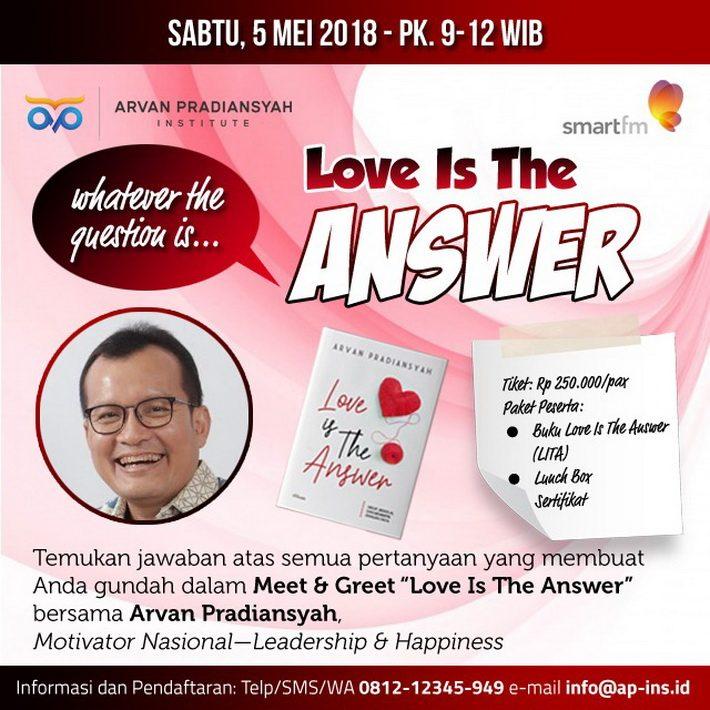 Meet and Greet Buku Motivator Indonesia Love Is The Answer Arvan Pradiansyah